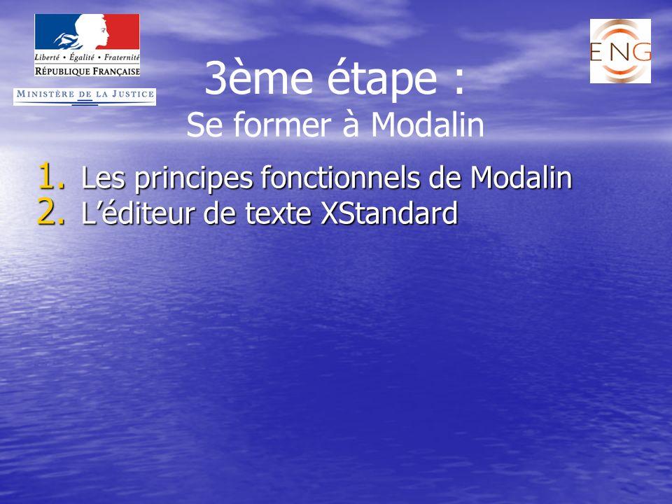Les principes fonctionnels de Modalin L'éditeur de texte XStandard