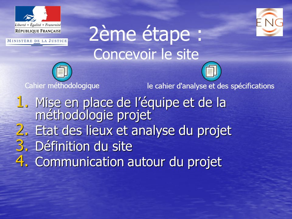 2ème étape : Concevoir le site