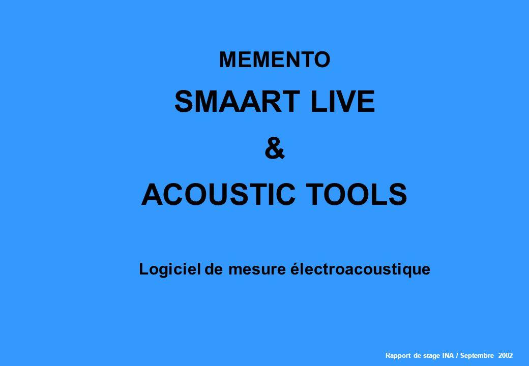 Logiciel de mesure électroacoustique