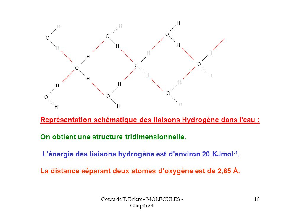 Cours de T. Briere - MOLECULES - Chapitre 4