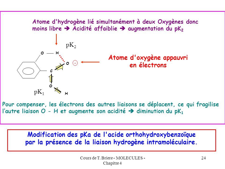 Atome d oxygène appauvri en électrons