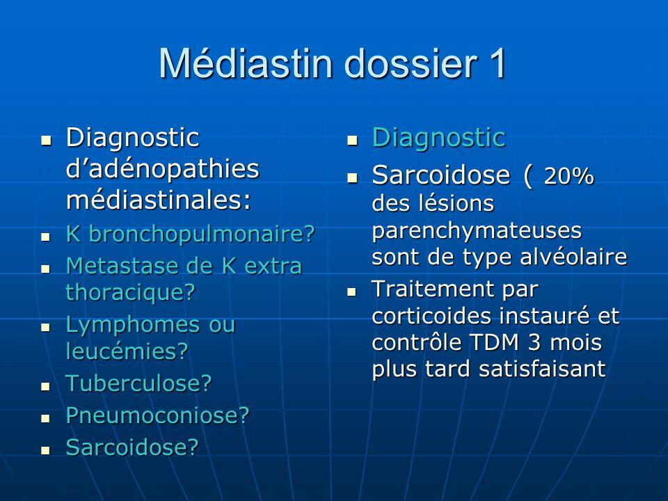 Médiastin dossier 1 Diagnostic d'adénopathies médiastinales: