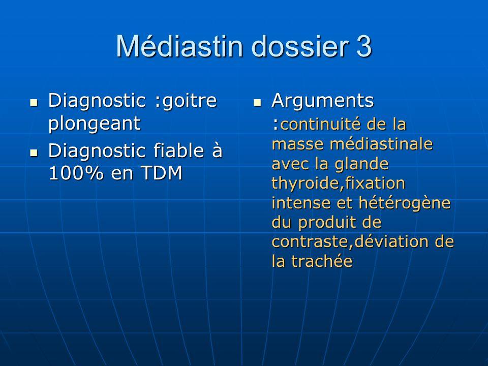 Médiastin dossier 3 Diagnostic :goitre plongeant