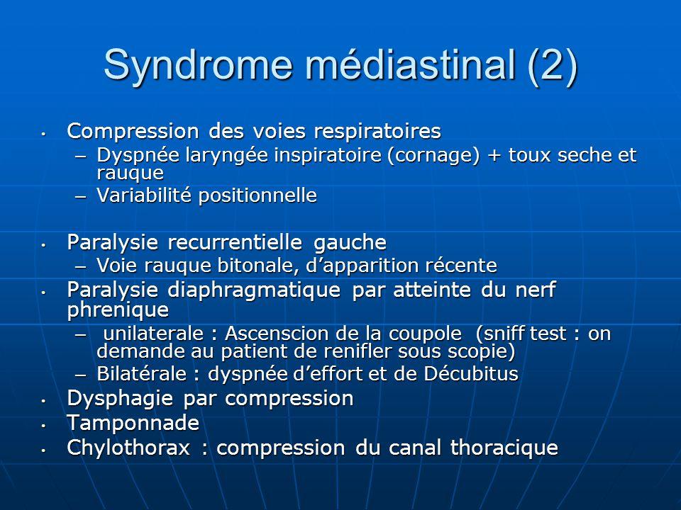 Syndrome médiastinal (2)