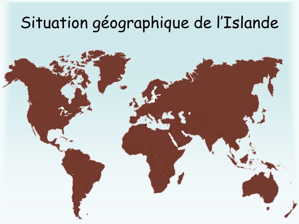 Situation géographique de l'Islande