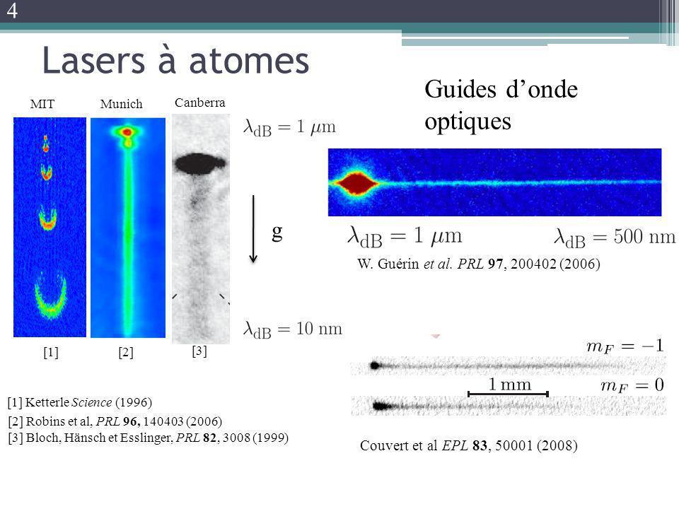 Lasers à atomes Guides d'onde optiques 4 g