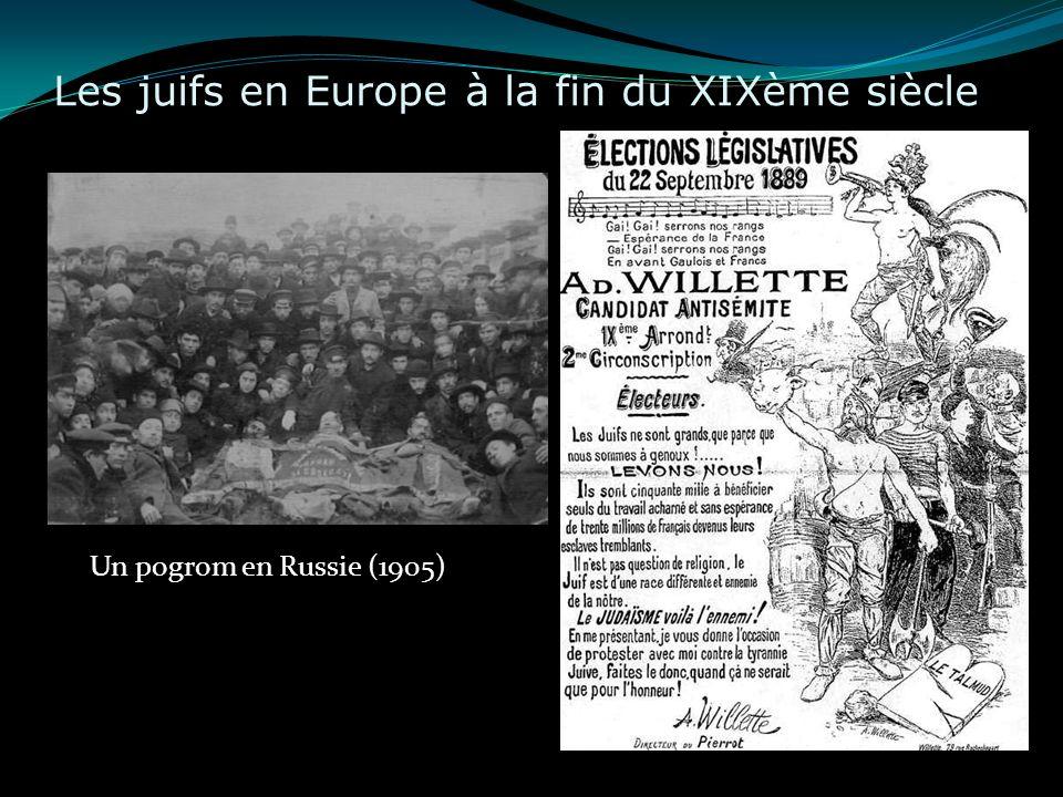 Les juifs en Europe à la fin du XIXème siècle