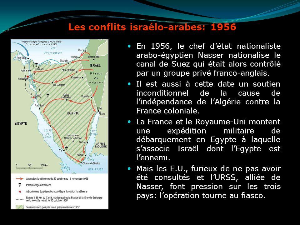Les conflits israélo-arabes: 1956