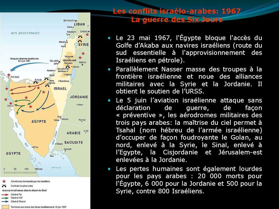 Les conflits israélo-arabes: 1967 La guerre des Six Jours