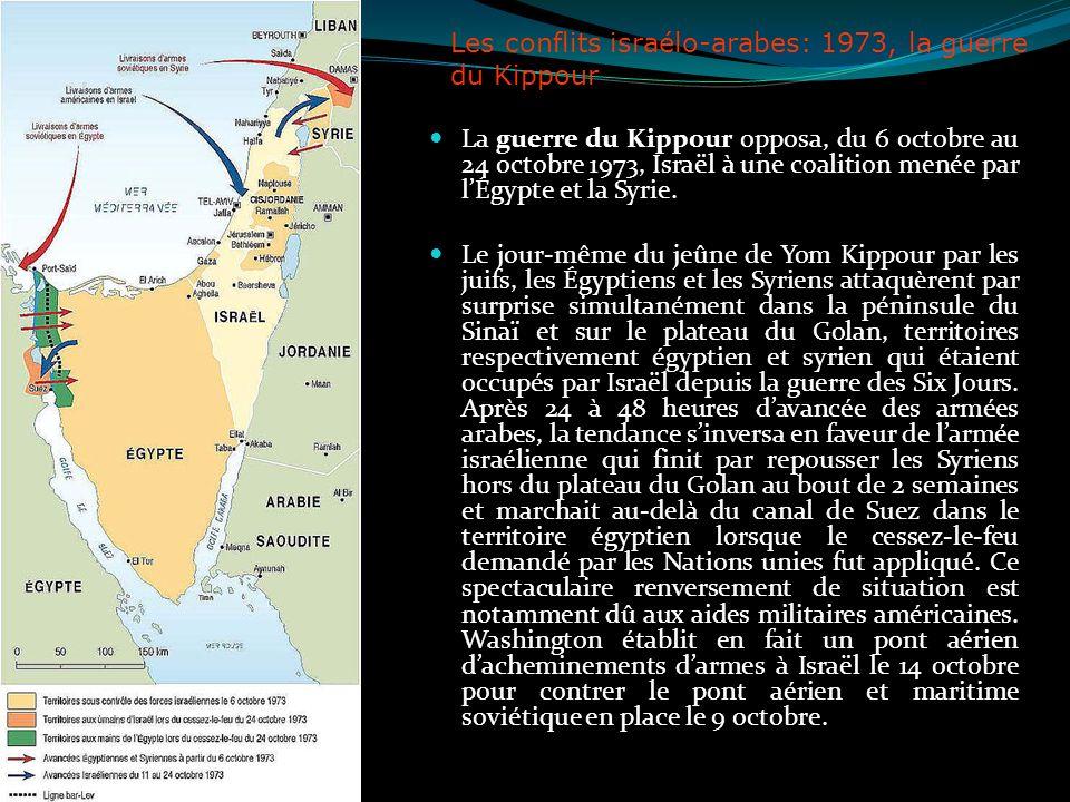 Les conflits israélo-arabes: 1973, la guerre du Kippour