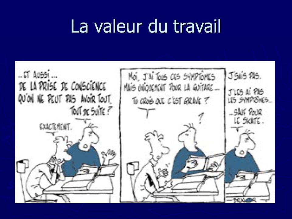 La valeur du travail