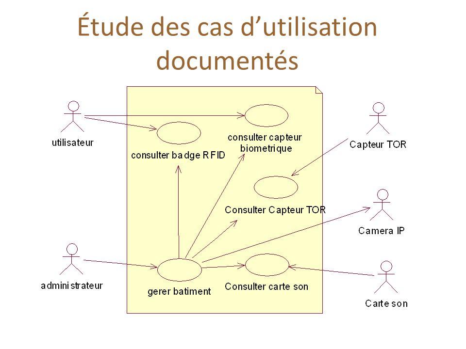 Étude des cas d'utilisation documentés