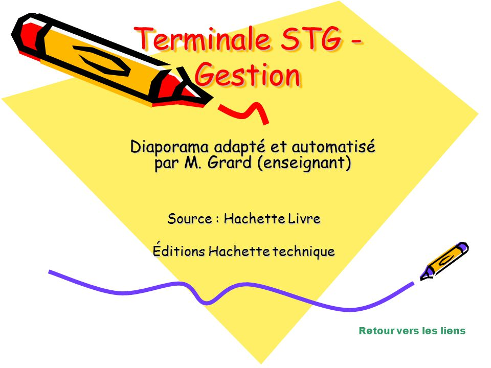 Terminale STG - Gestion