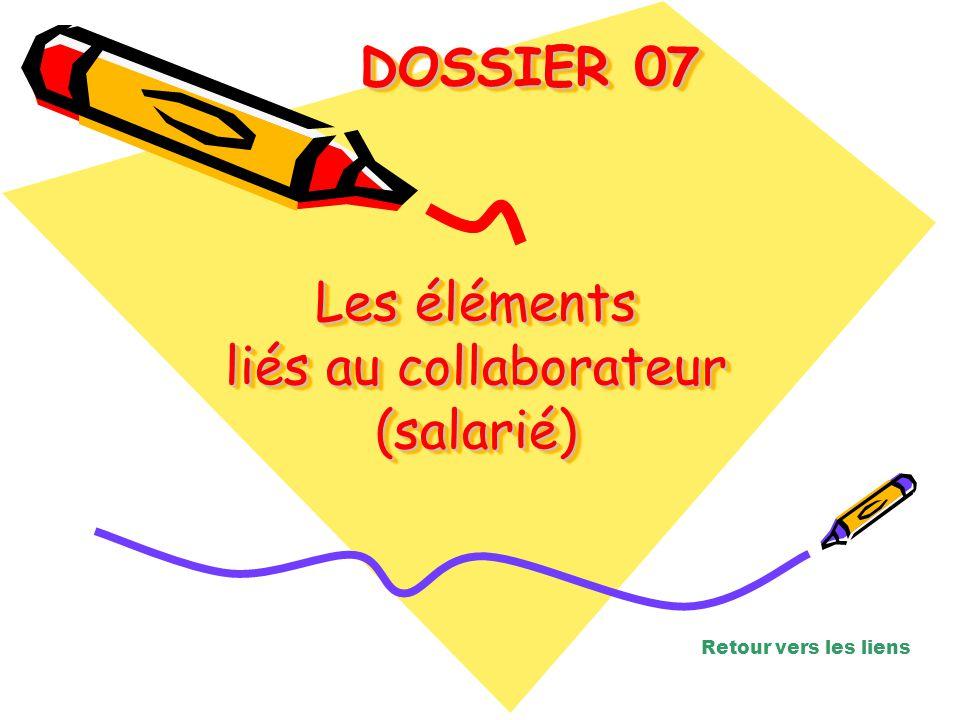 Les éléments liés au collaborateur (salarié)