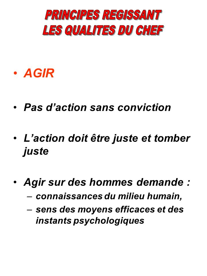 AGIR Pas d'action sans conviction
