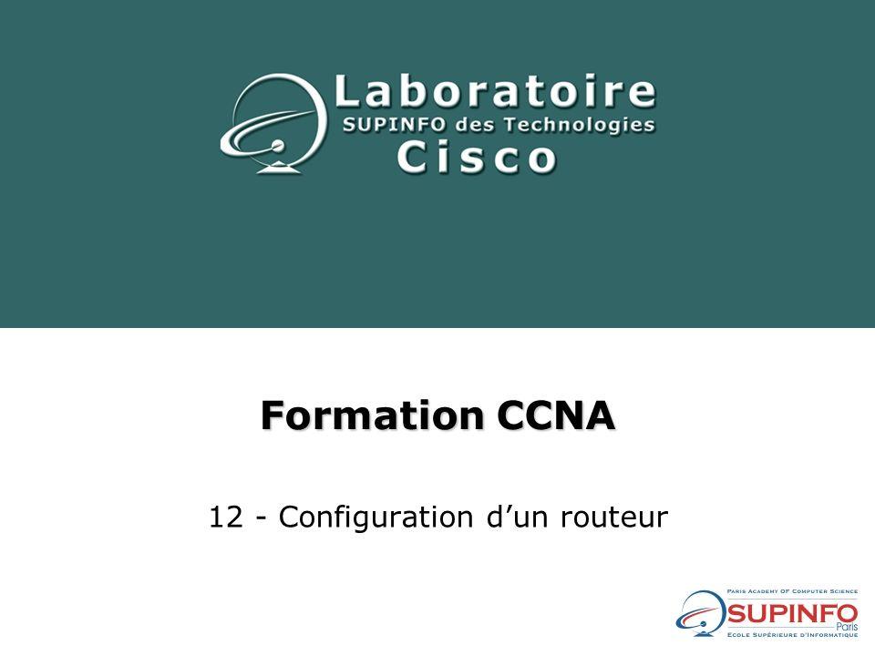 12 - Configuration d'un routeur