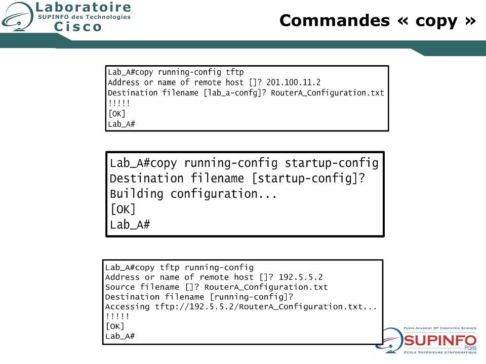 Commandes « copy »
