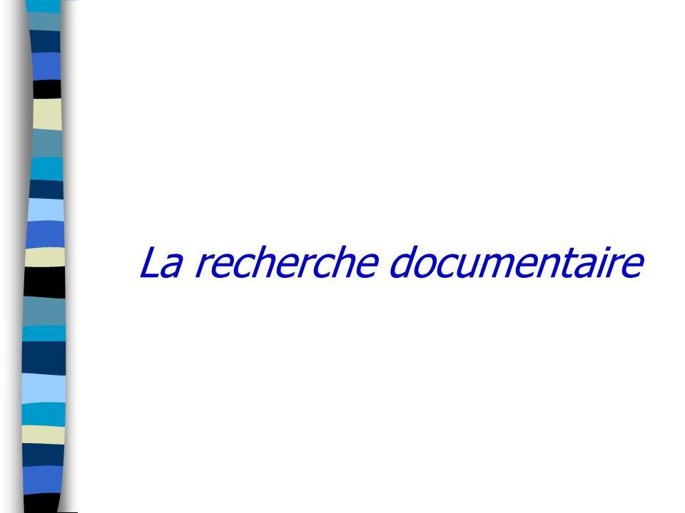 La recherche documentaire