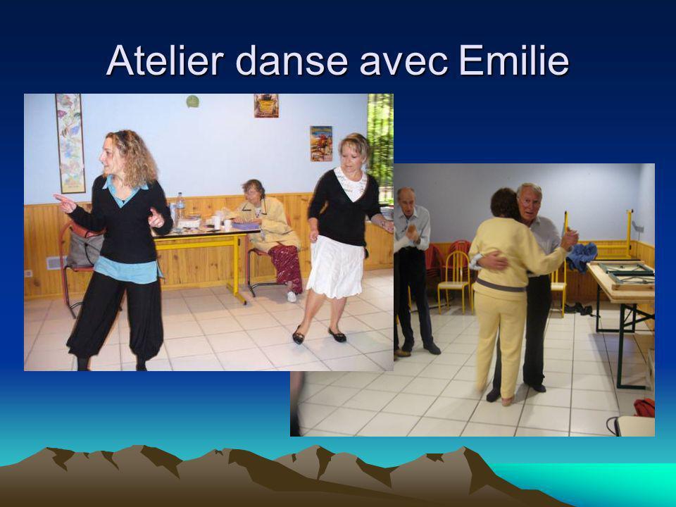 Atelier danse avec Emilie
