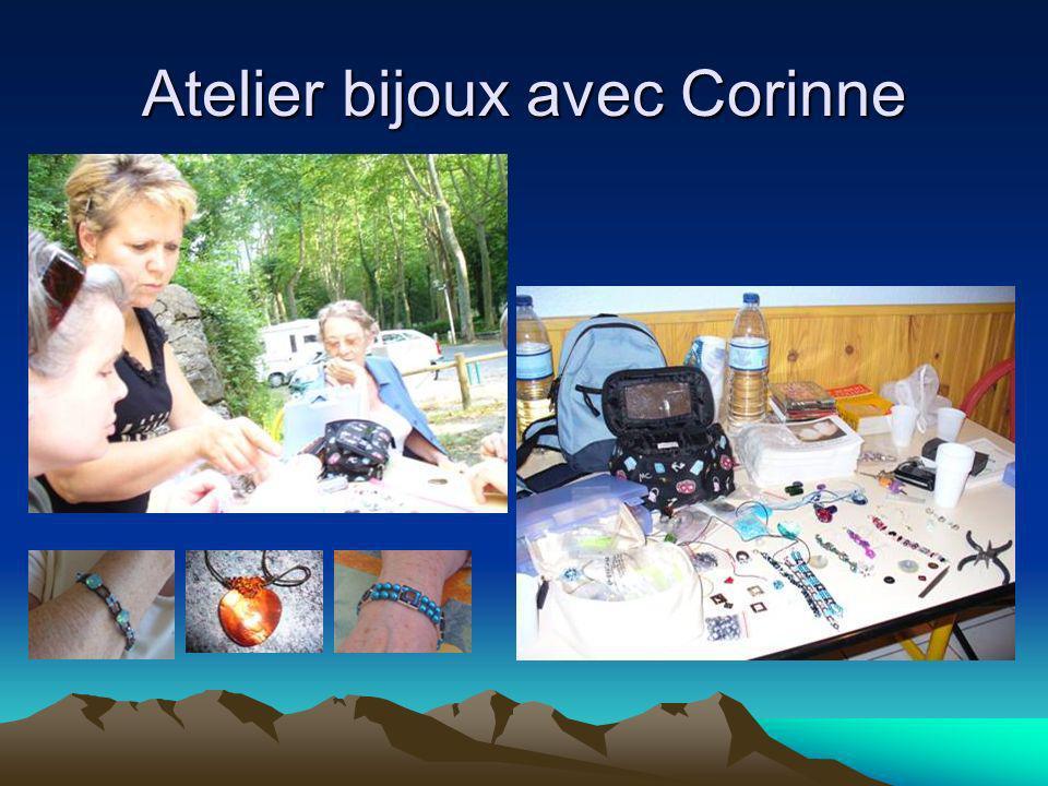 Atelier bijoux avec Corinne