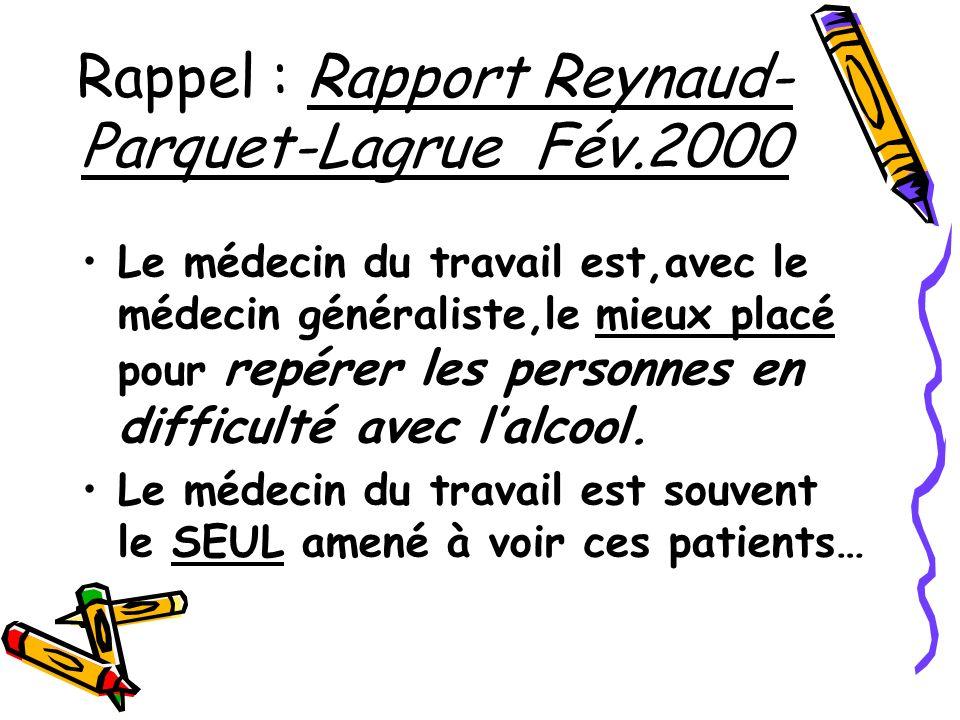 Rappel : Rapport Reynaud-Parquet-Lagrue Fév.2000