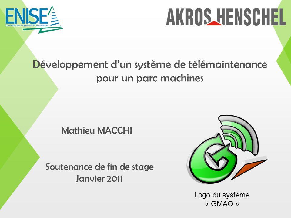 Développement d'un système de télémaintenance pour un parc machines