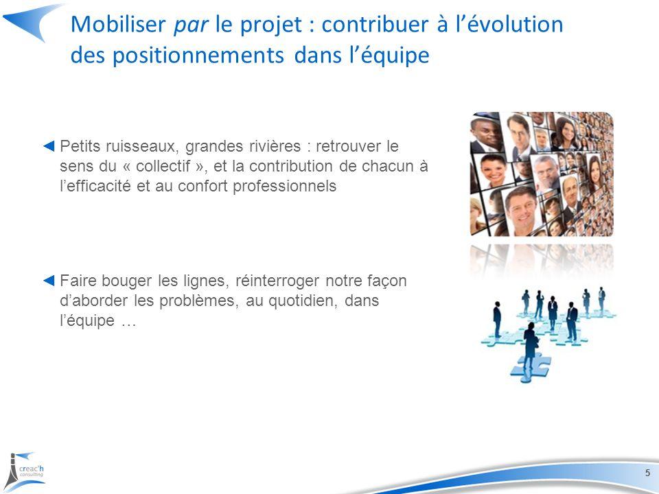 Mobiliser par le projet : contribuer à l'évolution des positionnements dans l'équipe