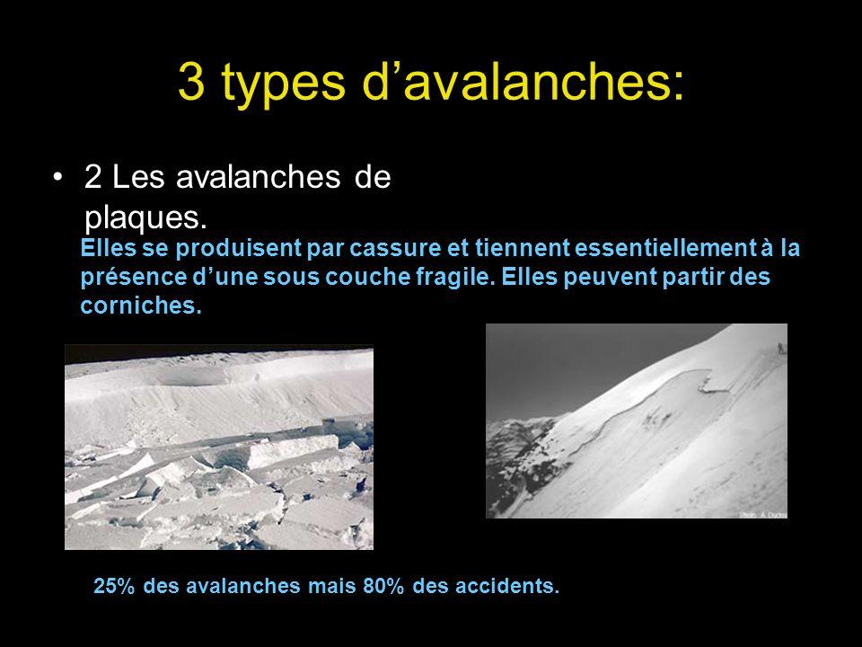 3 types d'avalanches: 2 Les avalanches de plaques.
