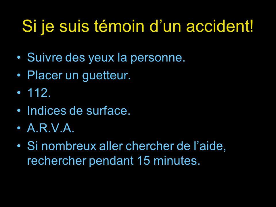 Si je suis témoin d'un accident!