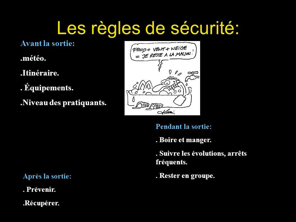 Les règles de sécurité: