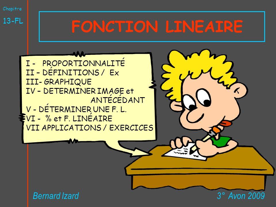 FONCTION LINEAIRE Bernard Izard 3° Avon 2009 13-FL
