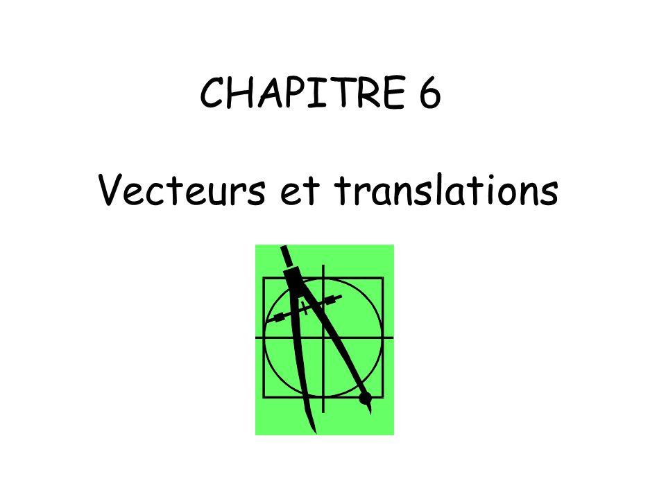 CHAPITRE 6 Vecteurs et translations