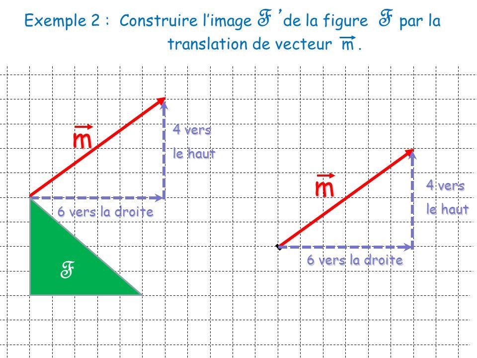 Exemple 2 :. Construire l'image F 'de la figure F par la