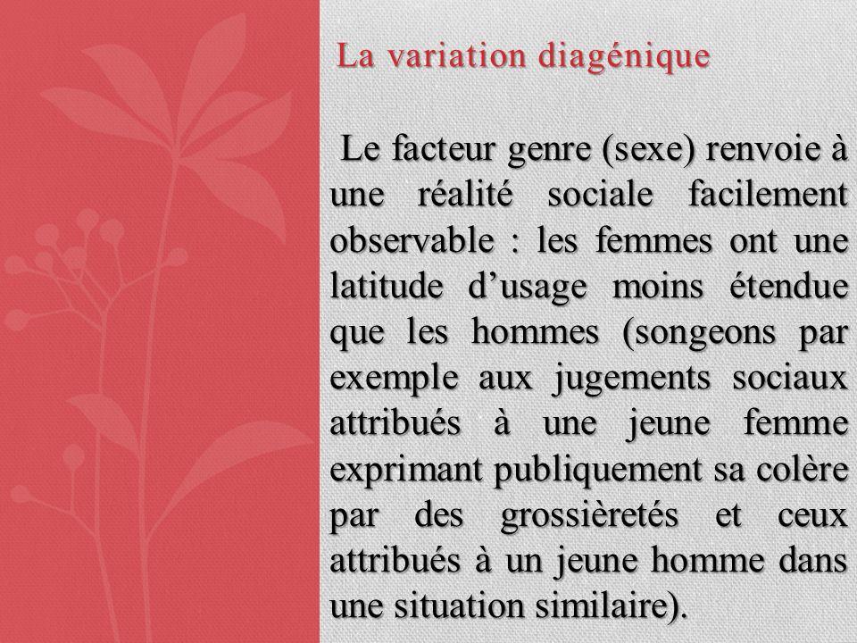 La variation diagénique