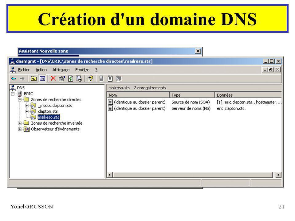 Création d un domaine DNS