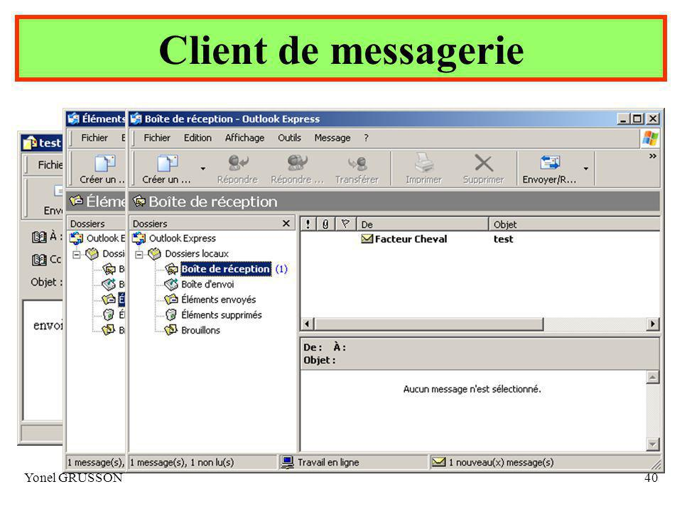 Client de messagerie Yonel GRUSSON