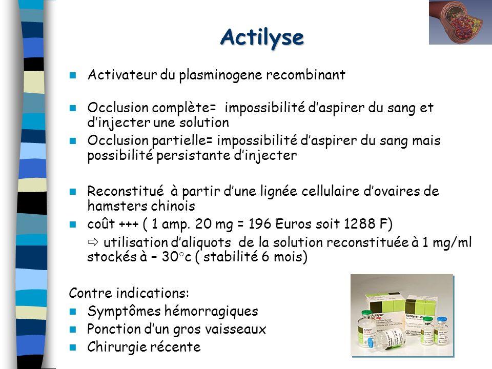 Actilyse Activateur du plasminogene recombinant