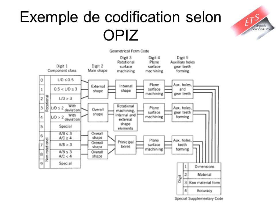 Exemple de codification selon OPIZ