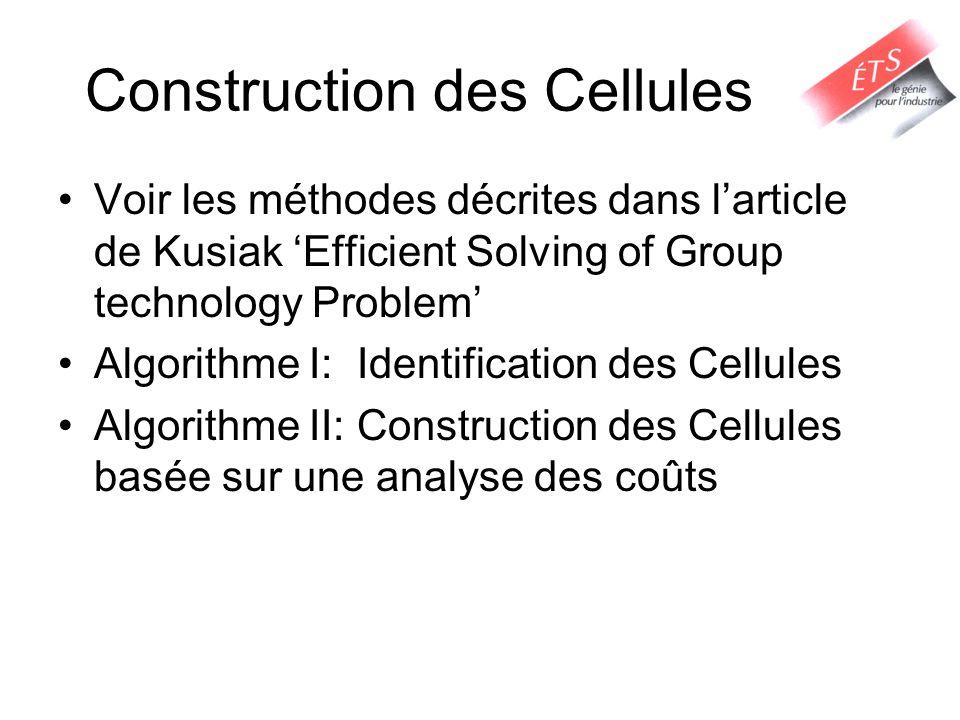 Construction des Cellules