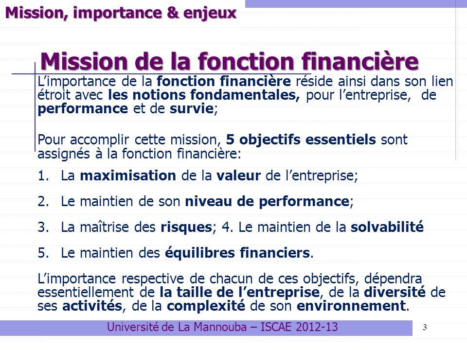 Mission de la fonction financière