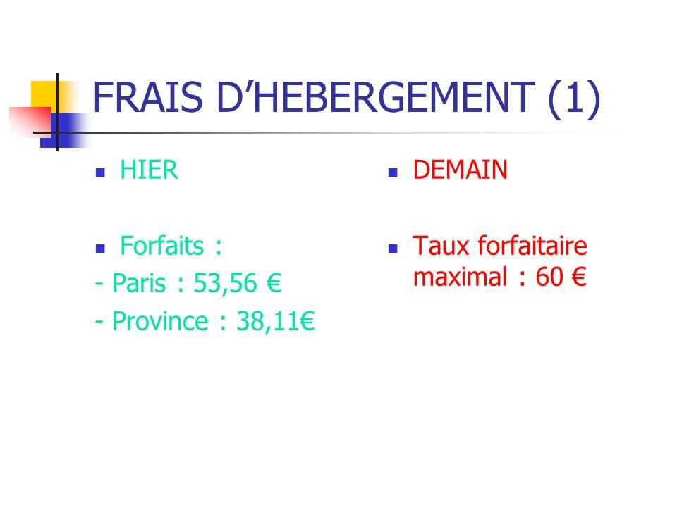 FRAIS D'HEBERGEMENT (1)