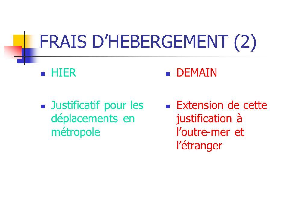 FRAIS D'HEBERGEMENT (2)