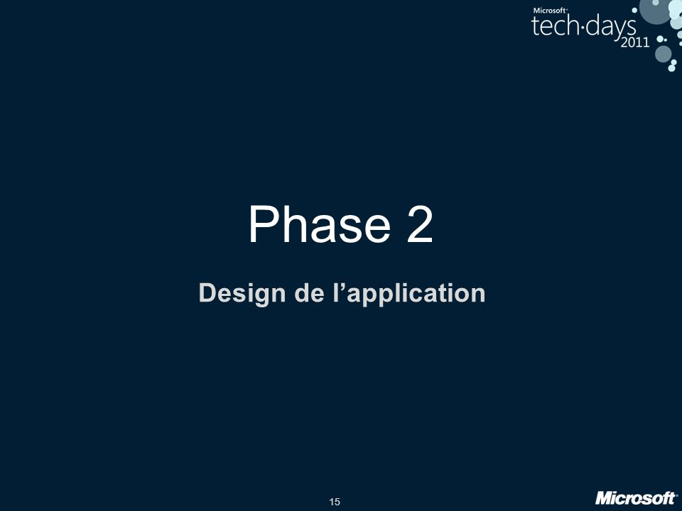 Design de l'application