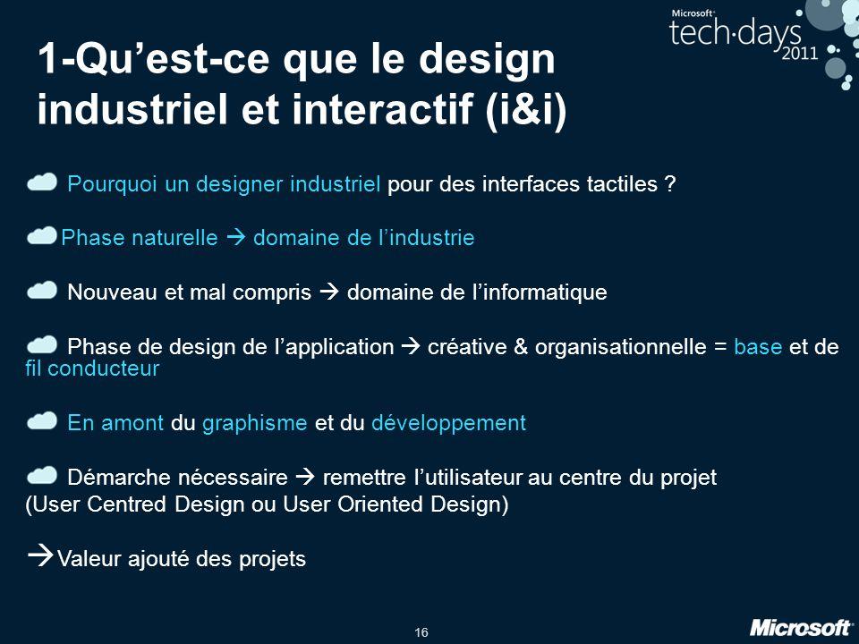 1-Qu'est-ce que le design industriel et interactif (i&i)