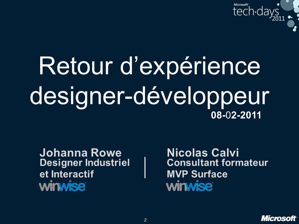 Retour d'expérience designer-développeur