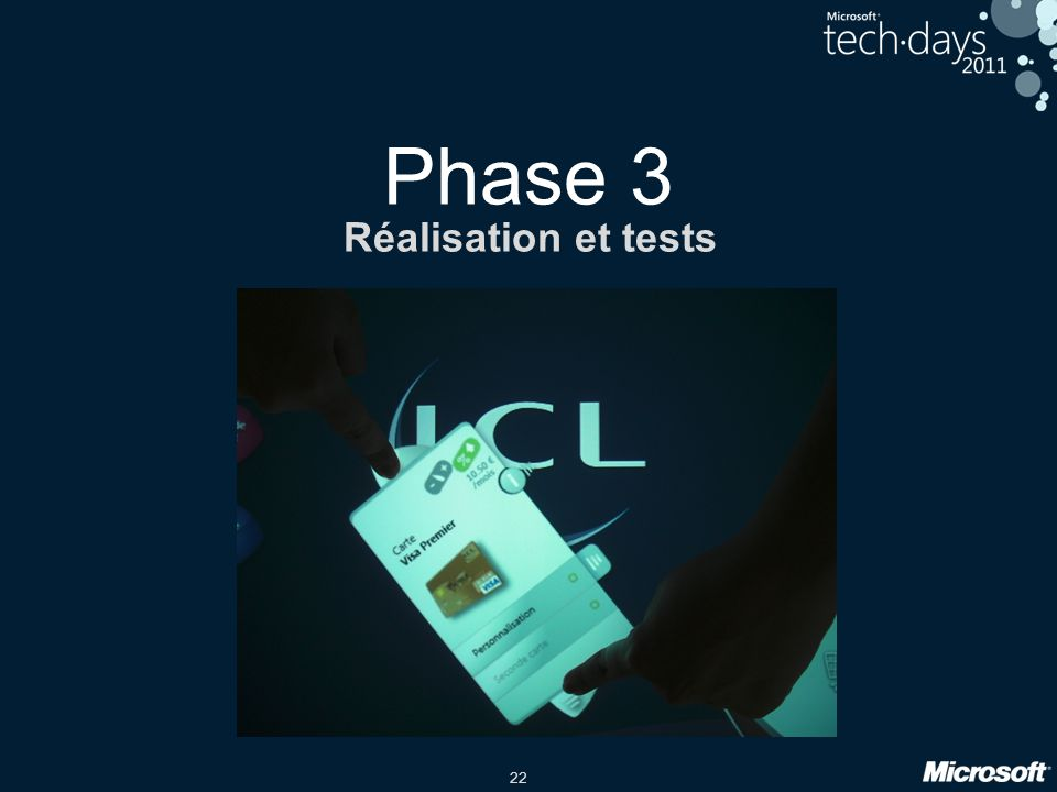 Phase 3 Réalisation et tests