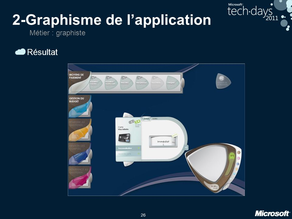2-Graphisme de l'application