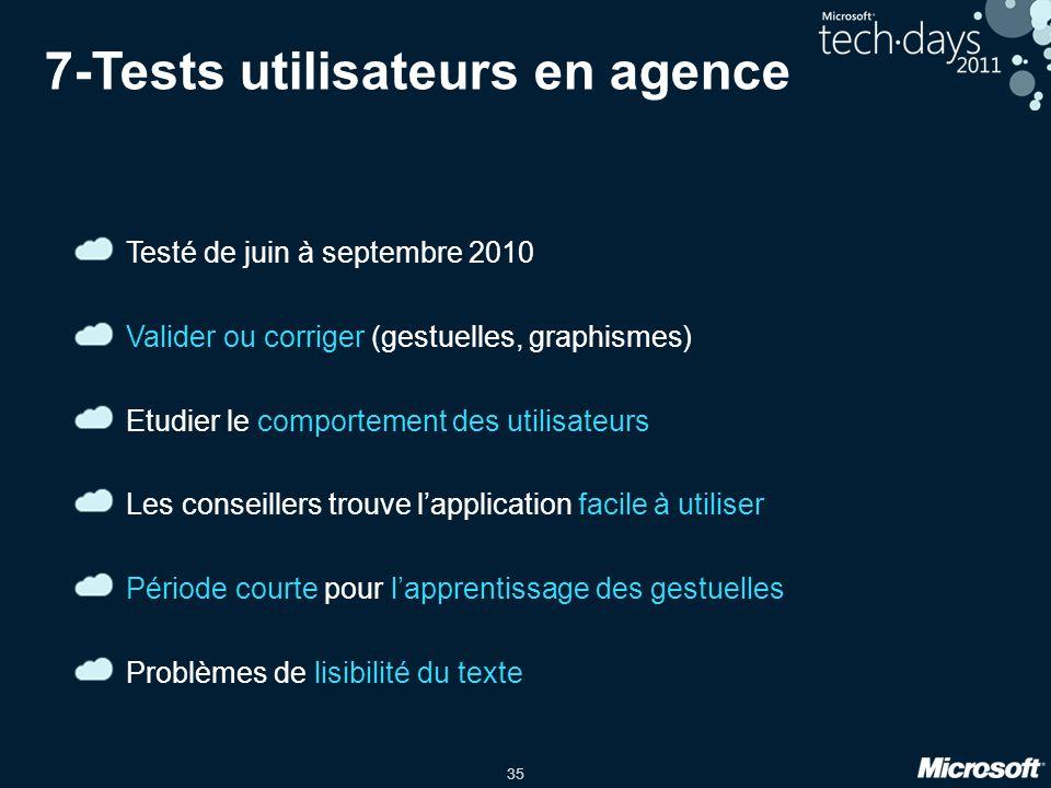 7-Tests utilisateurs en agence