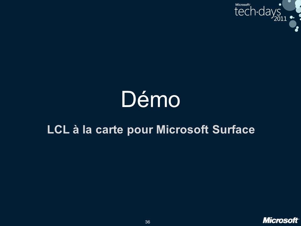 LCL à la carte pour Microsoft Surface