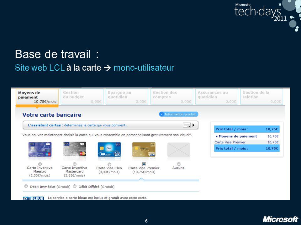 Base de travail : Site web LCL à la carte  mono-utilisateur